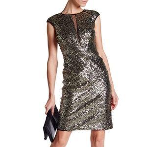 *NEW!* Nicole Miller 👗 Sexy Sequin Illusion Dress